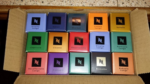 nespresso pod packaging